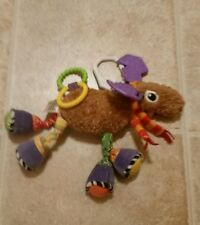 Lamaze Baby Play & Grow Mortimer The Moose Plush Rattle Link Toy
