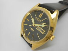 citizen automatic men's gold plated vintage japan made wrist watch run x543