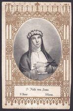 SANTA ROSA DA LIMA 02 SANTINO HOLY CARD IMMAGINETTA RELIGIOSA - fine 1800