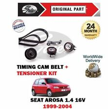 FOR SEAT AROSA 1.4 16v 1999-2004 NEW GATES TIMING CAM BELT + TENSIONER KIT