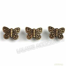 60pcs 111553 Wholesale Bronze Butterfly Animal Spacer Beads 15mm Fit Findings