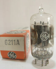 One 1970's GE 5-Star 6211A tube - Gray Plates, Clear-Top, Side OO Getters