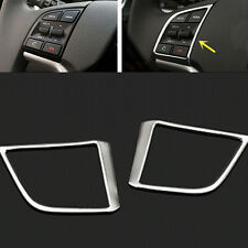 2p ABS Chromed steering wheel control buttons decorative Frame Trim for Tucson 1