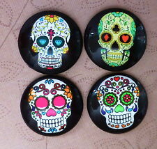 4 pcs 25mm Domed Round Skull cabochon Muerte cabochons S003