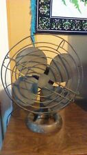 VINTAGE EMERSON ELECTRIC FAN METAL BLADES OSCILLATING TWO SPEED ADJUSTABLE 12""