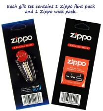 NEW Genuine Original Zippo 1 Flint And 1 Wick Value Pack