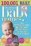 Lesley Bolton - Complete Book Of Baby Names 3e (2013) - New - Trade Paper (