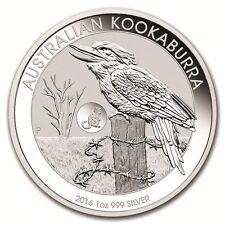 AUSTRALIE 1 Dollar Argent 1 Once Kookaburra 2016 Marque Privée Singe Silver coin