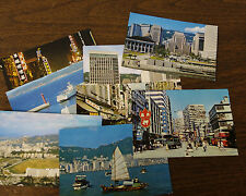 8 Vintage Postcards Hong Kong Island Happy Valley Okushima Golden Mile Banking