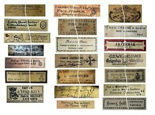 V111 Old Vintage Antique Violin Fiddle Maker Set of 21 Labels NICE!