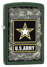 Zippo Lighter: U.S. Army Star on Camouflage - Green Matte 28631