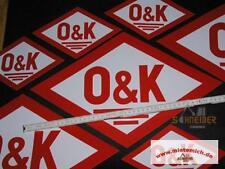 grosser Original Aufkleber  O&K 45x29cm (Rautenform)Orenstein & Koppel