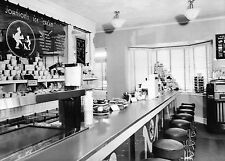 1940 Pennsylvania Turnpike Early Howard Johnson's Food Counter 8 x 10 photograph
