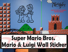 Super Mario Brothers-Mario & Luigi Wall Vinyl Sticker