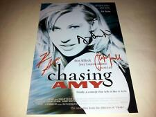 "CHASING AMY CAST X3 PP SIGNED 12""X8"" POSTER JASON LEE KEVIN SMITH"