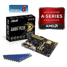 AMD A8 6600K APU CPU HD8570 ASUS A88X MOTHERBOARD 8GB DDR3 MEMORY RAM COMBO KIT