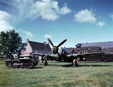 COLOR WW2 Photo WWII P-47 Thunderbolt Fighter France 1944 D-Day World War Two