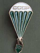 Scarce USSR Russian Parachute Sports Badge with 900 Jumps Hanger