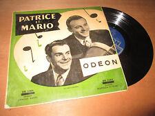 """PATRICE ET MARIO chantent pour vous - 25cm / 10"""" ODEON OS 1064 - 1950's"""