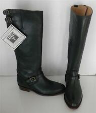 Frye Dorado Green Riding Equestrian Leather Buckle Knee High Boots 5