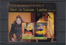 Le Liberia 2014 neuf sans charnière Henri de Toulouse-Lautrec 150e anniv naissance 2v s / s ii peintures