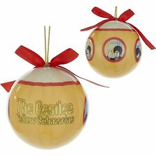 KURT ADLER THE BEATLES YELLOW SUBMARINE 80mm DECOUPAGE BALL CHRISTMAS ORNAMENT