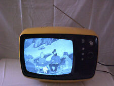 "Vintage TR-542AC Yellow Panasonic 12"" Black & White Solid State TV"