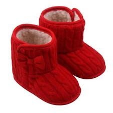 Toddler Baby Girls Woolen Shoes Snow Boots Soft Winter Warm Bowknot Sole Boots