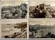 GAETA Lotto 4 cartoline Castello Angioino  etc. PC Circa 1930 Non viaggiate