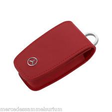 """Mercedes Benz Original Schlüsseletui Gen. 6 """"Leder Rot"""" Neu OVP"""