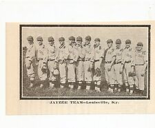 Jayzee Louisville KY 1912 Team Picture Baseball RARE