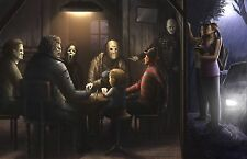 Horror Villains Glossy Art Print 11 x 17 In Hard Plastic Sleeve