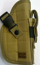 TAN NEW COLOR RIGHT HANDED BELT HAND GUN PISTOL REVOLVER HOLSTER