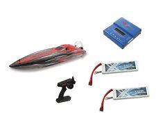 RC Rennboot Speedboot Bullet V2 Brushless 60km/h 73cm + 2x Lipo + Ladegerät NEU