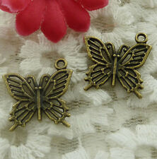 free ship 70 pieces bronze plated butterfly charms 20x19mm #2202