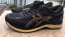 New Asics T641N Metarun Duomax Black Onyx Gold Men's Running Shoes Size 9.5 US