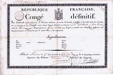 1036-MORTIER-MARÉCHAL D'EMPIRE-RÉVOLUTION FRANÇAISE-CONGÉ-THIERS-1801