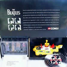 Corgi Toys THE BEATLES YELLOW SUBMARINE & 4 White Metal 54mm Figures MIB`99 RARE