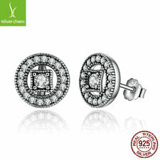 Authentic Genuine 925 Sterling Silver Vintage Allure Stud Earring For Women Gift