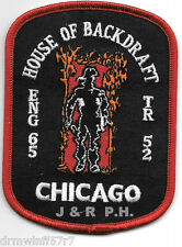 "Chicago Engine-65 / Truck-52  ""House of Backdraft""  (3"" x 4"" size)  fire patch"