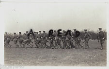 WW1 Soldier KCB Kent Cyclist Battalion marching at the double during Manoeuvres