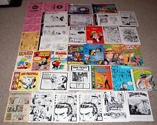 Comic Strip Fanzine Magazine Book 37pc Lot Dick Tracy Mullins Alley Palooka Buck