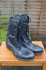 *AWESOME* AllSaints Mens leather Side zip lace up Military boots UK9 US10 EU43