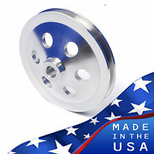 Deep Offset Big Block Chevy Power Steering Pulley Saginaw Pump Keyway BBC SWP