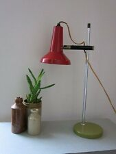 Vintage Retro Modernist MCM Red & Green 20th Century Desk/Table Spot Lamp