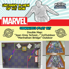 "HEROCLIX UNCANNY X-MEN OP KIT: Mapa/Map ""Jean Grey School"" / ""Manhattan Bridge"""
