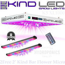 Kind LED Grow Lights K5 XL1000 w/ (2) FREE 2' Kind LED Bar Light - FLOWER MICRO
