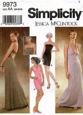 Simplicity Juniors' Evening Dress  Jessica McClintock Pattern 9973 Bust 28-32