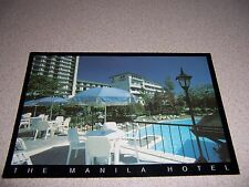 1980s SWIMMING POOL at MANILA HOTEL PHILIPPINES VTG POSTCARD