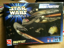 STAR WARS EPISODE 1 DROID FIGHTERS Snapfast Model Kit AMT ERTL, Still sealed MIB